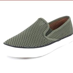 Sperry Seaside Leather Perforated Slip-Sneakers